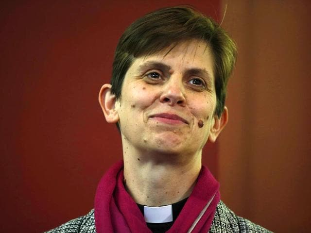 Libby-Lane-a-suffragan-Assistant-bishop-in-the-Diocese-of-Chester-poses-for-photographers-after-her-forthcoming-appointment-as-the-new-Bishop-of-Stockport-Reuters