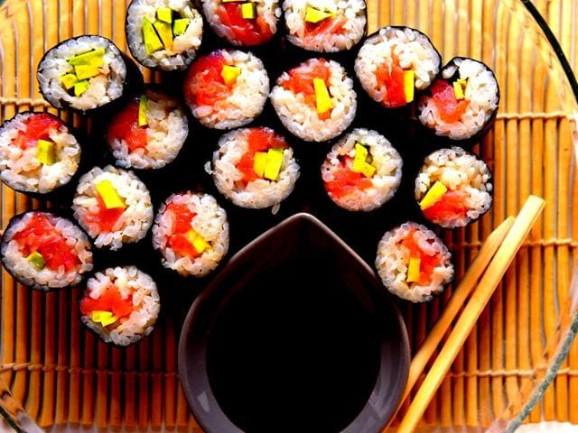 Fish: For a suprising alternative to typical comfort foods — often loaded with fat and sugar — try sushi. Choose rolls lined with tuna or salmon. Both are good sources of vitamin D. During the winter months, when you have limited exposure to the sun, food sources of the bone-healthy vitamin become even more essential. Vitamin D deficiency is associated with impaired growth, weakening of the bones and even the risk of heart disease.