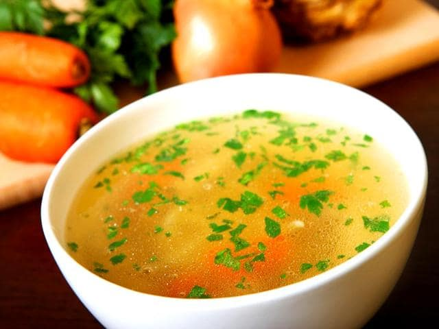 Soup: Soup is winter's perfect food — as long as you hold the cream, salt and beef. Look for soup recipes that call for chicken broth, vegetable broth or water as the base and include a lot of vegetables. Pair your soup with a side of 100 percent whole grain crackers for a dose of grains. Don't have any recipes handy? Try Cleveland Clinic's tasty and healthy Collard and Lentil Soup.