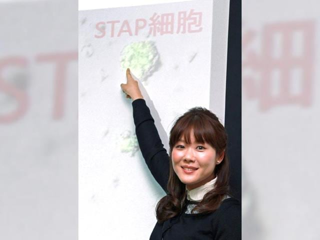 This-January-28-2014-picture-shows-31-year-old-Riken-institute-reseacher-Haruko-Obokata-announcing-STAP-cells-during-a-press-conference-in-Kobe-Hyogo-prefecture-AFP