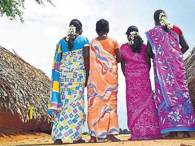 Four-Irula-tribal-women-who-were-raped-by-policemen-at-Tirukovilur-in-Tamil-Nadu-s-Vilupuram-district-HT-photo