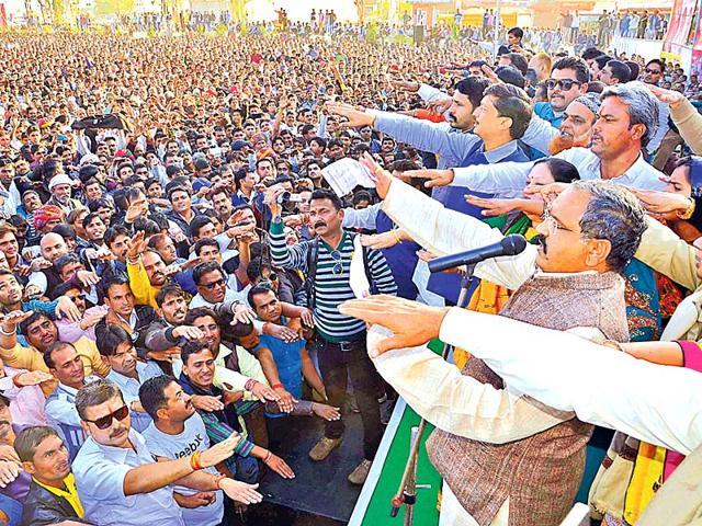 Suspended-BJP-MLA-Prahlad-Gunjal-addresses-workers-in-Kota-on-Sunday