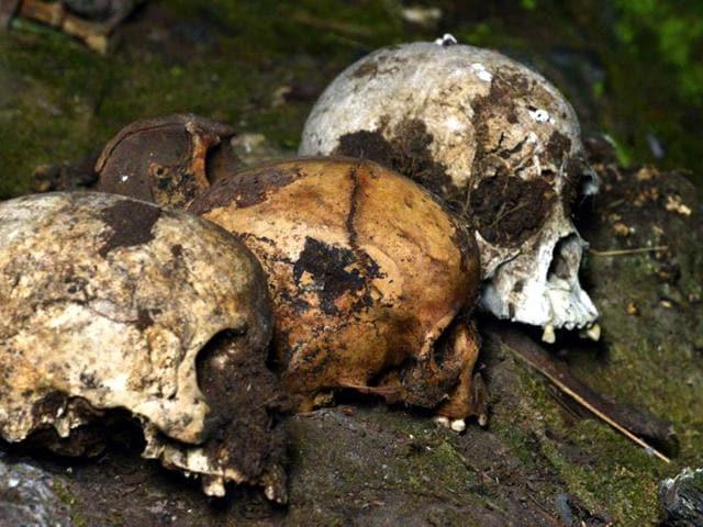 human skulls found in Manipur