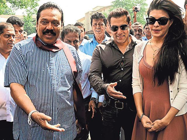Salman Khan,Mahinda Rajpaksa,Sri Lanka