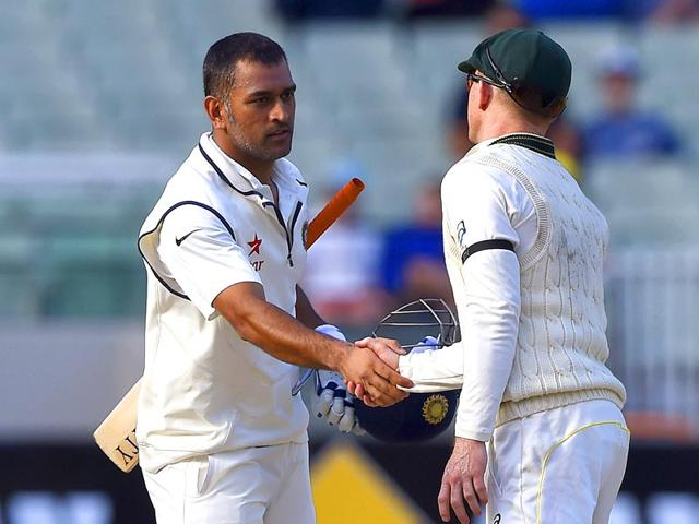 India-s-captain-MS-Dhoni--announced-his-retirement-from-Test-cricket-with-immediate-effect--on-Tuesday-after-his-team-lost-the-Border-Gavaskar--Trophy-to-Australia--AP-Photo