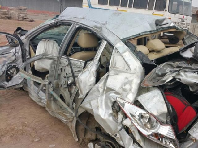 The-heavily-damaged-vehicle-at-the-accident-site-HT-Photo