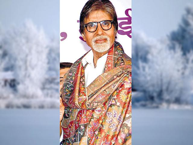 Amitabh Bachchan greeted the gathering with his charming smile.