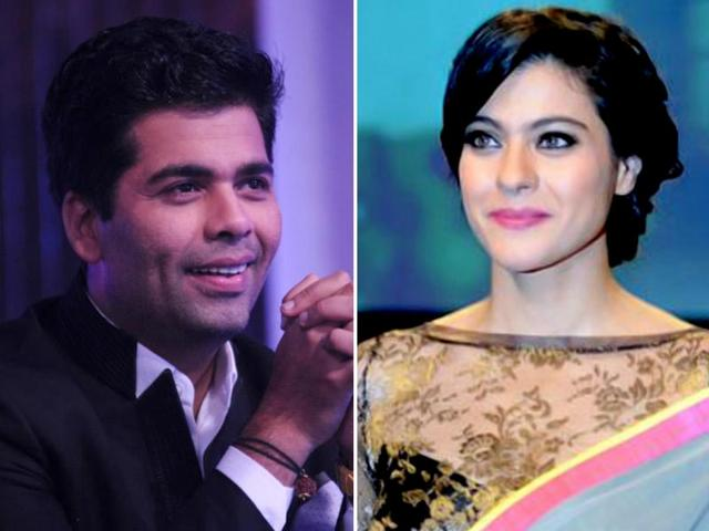 KAran Johar,Kajol,fight