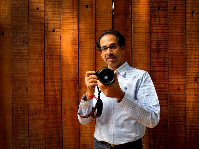 Uddhav Thackeray on the other side of the lens, for a social cause