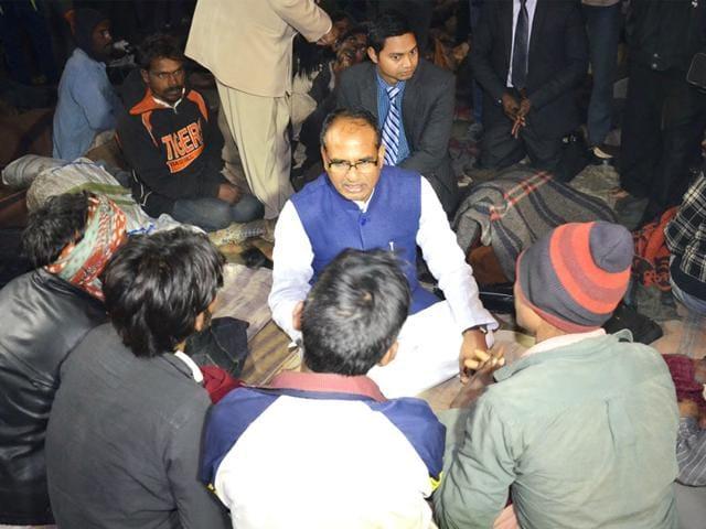 Shivraj Singh Chouhan,night shelters,Bhopal
