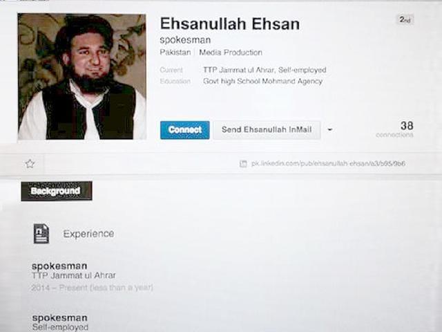 A-screenshot-of-Taliban-commander-Ehsanullah-Ehsan-s-LinkedIn-profile-Photo-Twitter