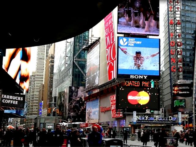 When Indian TV show Mahakumbh was promoted at Times Square