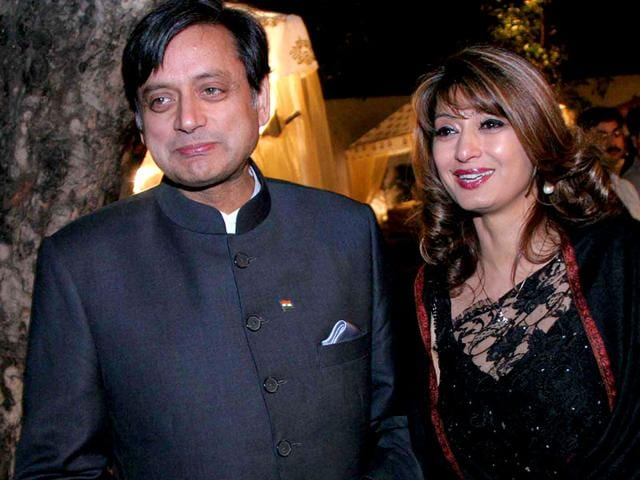 Sunanda-Pushkar-and-Shashi-Tharoor-during-a-friendly-cricket-match-between-FICCI-and-the-MEA-at-a-Delhi-school-on-March-7-2010-Ronjoy-Gogoi-HT-file-photo