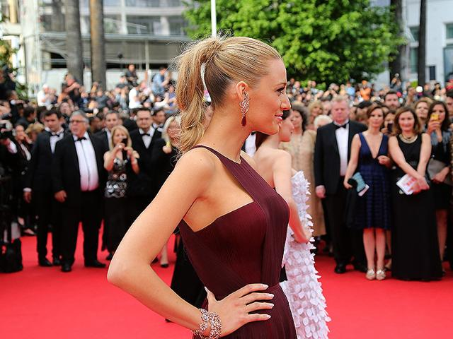 Blake Lively: Always dressed to the nines, the actress looked especially stunning at the Cannes Film Festival opening ceremony. She chose one of the trendiest hairstyles of 2014: a high ponytail made to look slighty messy for a glamorous done/undone effect.