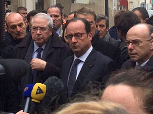 French-President-Francois-Hollande-calls-the-attack-of-Charlie-Hebdo-HQ-as-exceptional-barbarity-Source-Twitter
