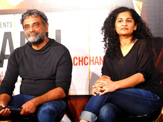 Director R Balki with wife Gauri Shinde.