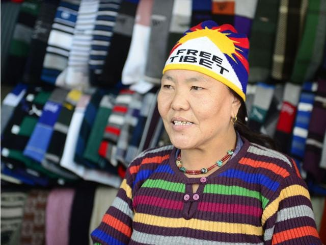 Tsewang-a-Tibetian-refugee-wears-a-cap-with-a-message-in-Bhopal-on-Wednesday-Mujeeb-Faruqui-HT-photo