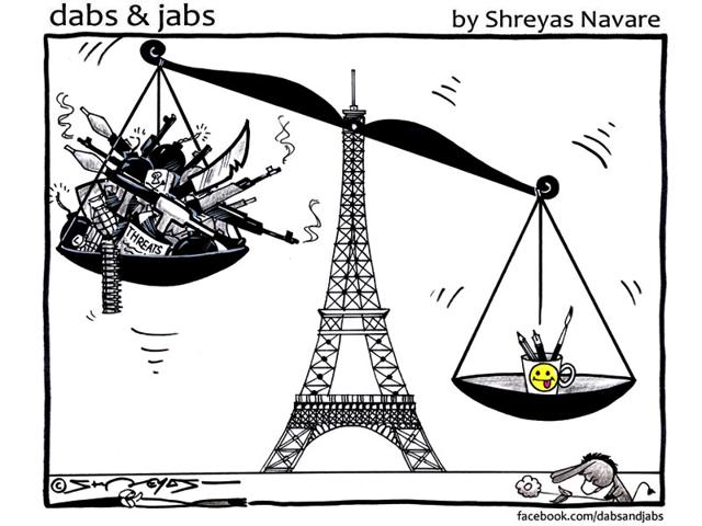 For their comrades: Indian cartoonists sketch to support Charlie Hebdo