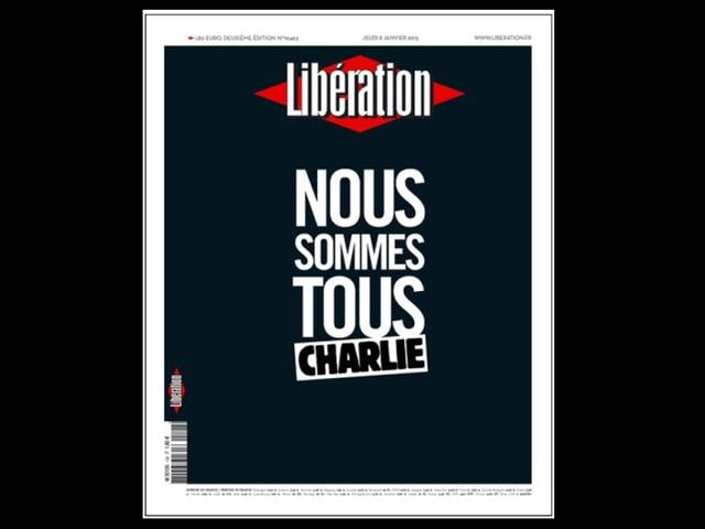 French Newspapers Don Black After Attack On Charlie Hebdo World Hindustan Times