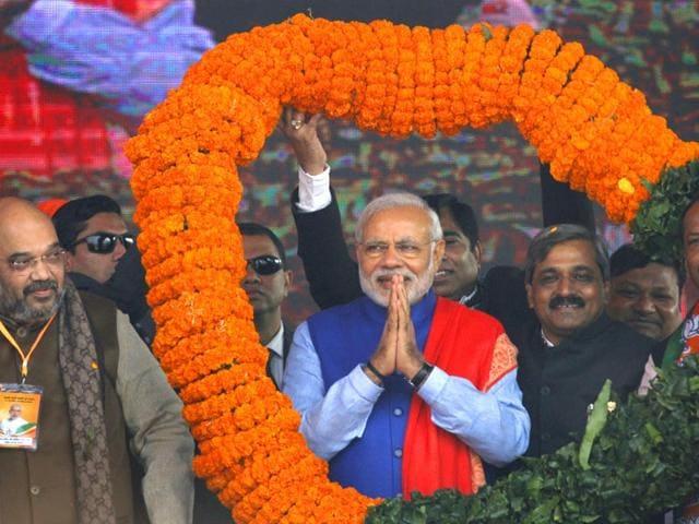 Prime-Minister-Narendra-Modi-addresses-BJP-s-Abhinandan-rally-at-Ramlila-Maidan-in-New-Delhi-PTI-Photo