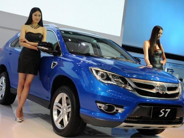 BYD S7 SUV,Xinhua,Sexy models