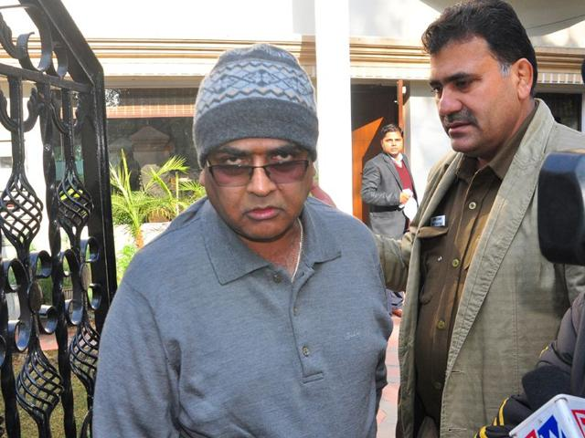 Lawyer-Mukesh-Mittal-L-at-his-house-during-a-raid-by-the-ED-in-Sector-18-Chandigarh-on-Tuesday-Karun-Sharma-HT
