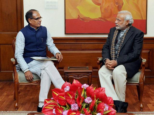 Shivraj Singh Chouhan,Narendra Modi,New Delhi