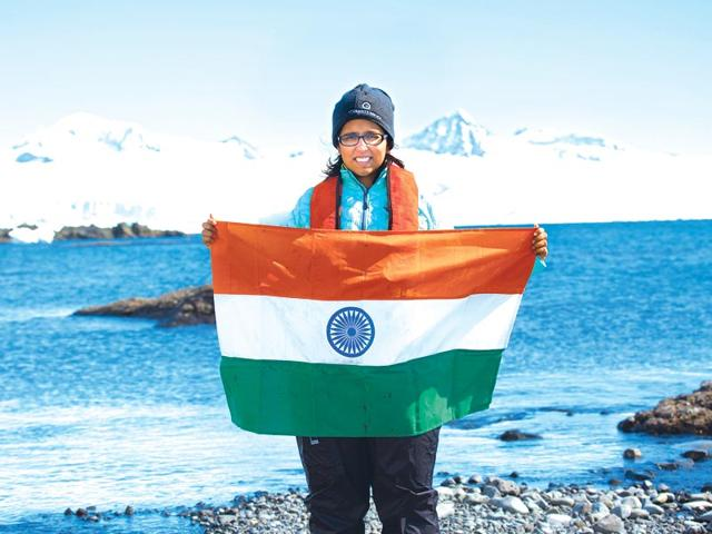 Zareen Cheema,Antarctica,expedition