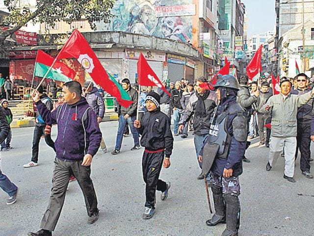 Nepalese-protesters-march-during-a-general-strike-called-by-an-alliance-of-30-opposition-parties-in-Kathmandu-on-Tuesday-AP-Photo