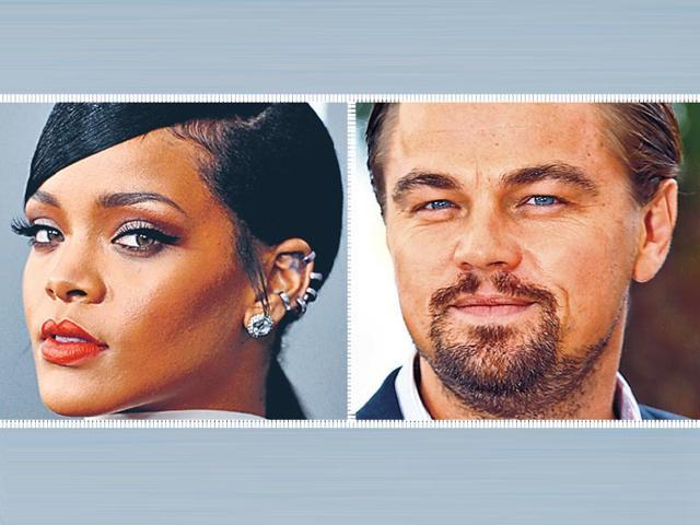 Loenardo DiCaprio,Rihanna