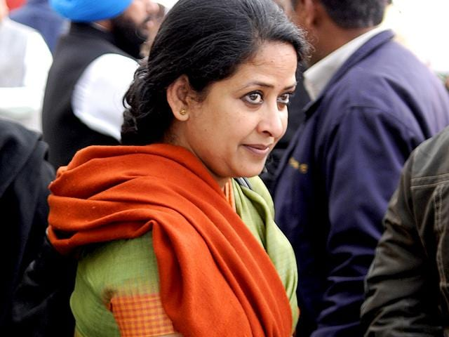 President-Pranab-Mukherjee-s-daughter-Sharmistha-Mukherjee-will-contest-from-the-Greater-Kailash-Colony-assembly-constituency-in-south-Delhi-Sonu-Mehta-HT-Photo