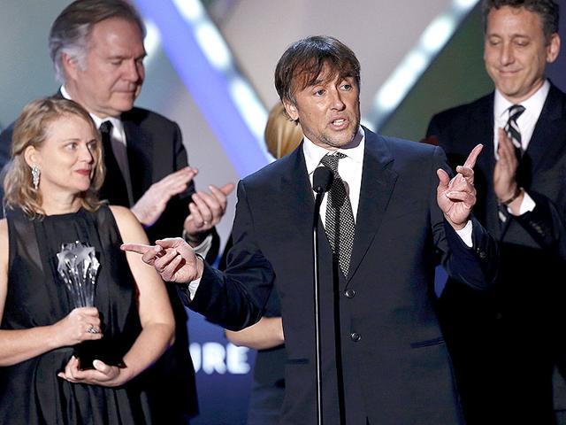 Director-Richard-Linklater-accepting-award-for-Boyhood-at-the-Critic-s-Choice-Award