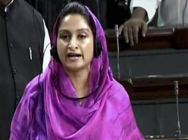 Harsimrat-Kaur-Badal-Union-Cabinet-Minister-of-Food-Processing-in-the-Government-of-India-HT-Photo