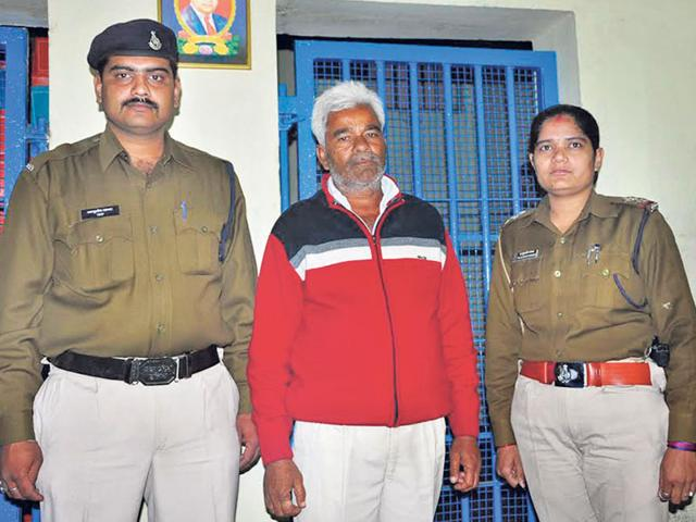 Accused-Devnarayan-Upadhyay-in-the-custody-of-Ujjain-police-Sunil-Magariya-HT-photo