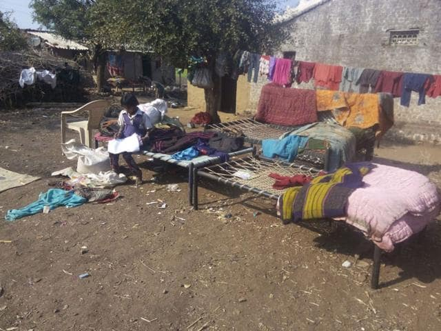 Many-villagers-are-keeping-their-household-goods-outside-their-houses-in-Barwani-HT-photo