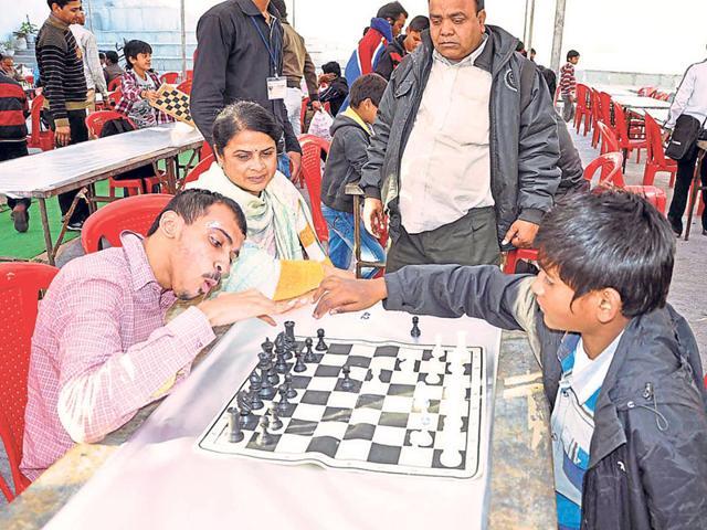 Akshay-Jain-22-plays-chess-in-Ujjain-on-Saturday-HT-photo