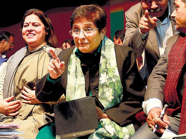BJP-s-Delhi-chief-ministerial-candidate-Kiran-Bedi-at-an-election-rally-in-Karkardooma-in-New-Delhi-Mohd-Zakir-HT-Photo