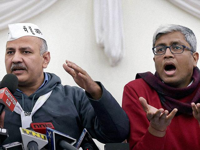 AAP-leaders-Manish-Sisodia-and-Ashutosh-during-a-press-conference-in-New-Delhi-PTI-Photo
