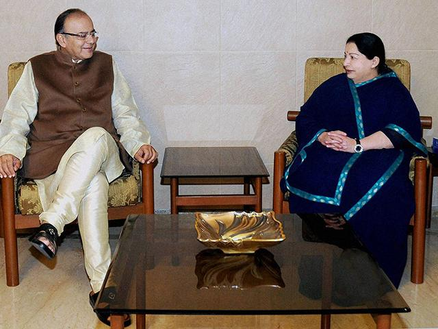 Union-finance-minister-Arun-Jaitley-met-with-AIADMK-chief-J-Jayalalitha-on-Sunday-PTI-File-Photo