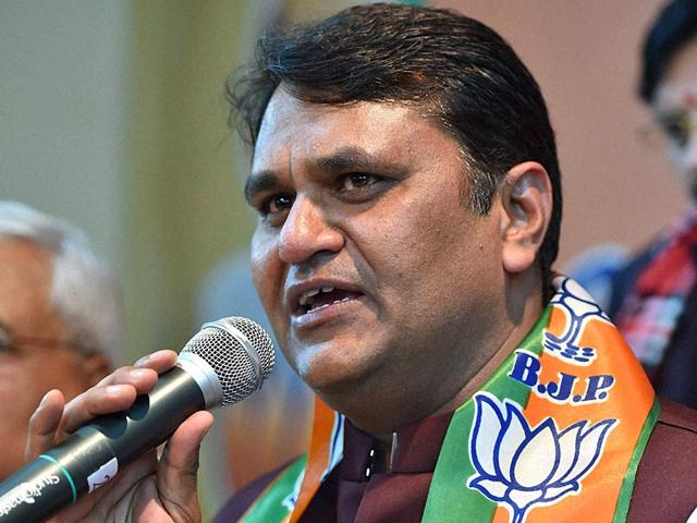 Former Aam Aadmi Party MLA Vinod Kumar Binny had a major showdown with Arvind Kejriwal and was subsequently expelled from the party. Binny has now joined the BJP. (PTI Photo)