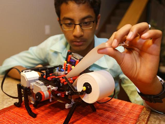 Shubham-Banerjee-launched-a-company-to-develop-a-low-cost-machine-to-print-Braille-materials-for-the-blind-AP-Photo