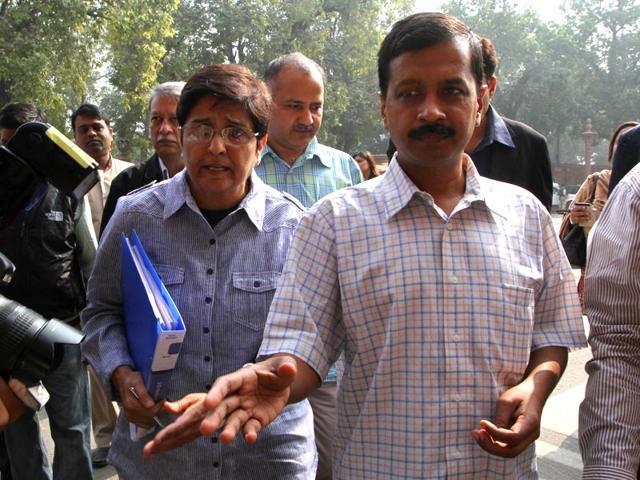 Kiran Bedi,Arvind Kejriwal,AAP