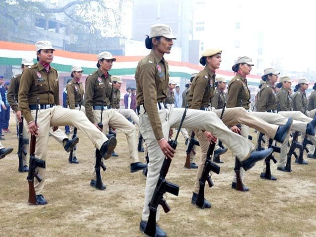 Punjab-police-woman-constable-during-rehearsal-for-the-Republic-Day-parade-at-Guru-Nanak-Stadium-in-Amritsar-on-Tuesday-Sameer-Sehgal-HT