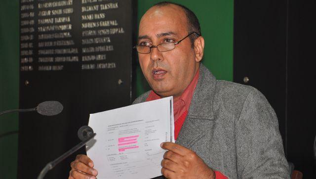 Yashpal-Singh-Chandana-addressing-the-media-at-Chandigarh-Press-Club-on-Tuesday-Karun-Sharma-HT