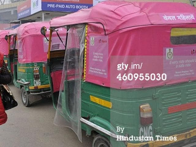 Pink-autos-launched-for-women-in-Gurgaon-HT-Photo