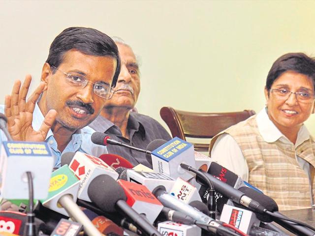 Arvind Kejriwal,Kiran Bedi,Delhi elections
