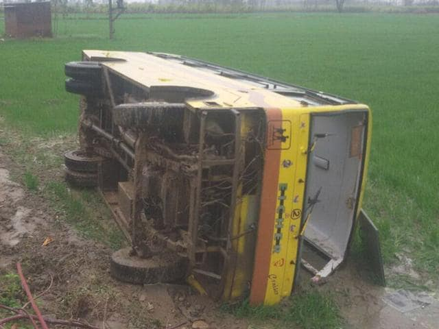 The-ill-fated-school-bus-that-met-with-an-accident-HT-photo