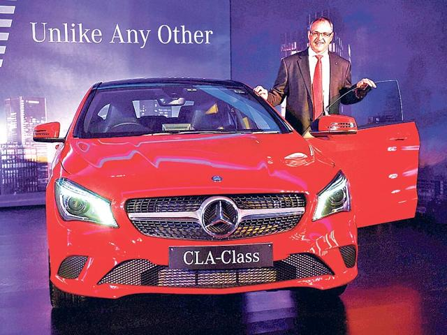 Mercedes-Benz-India-MD-and-CEO-Eberhard-Kern-launching-the-new-CLA-Class-in-New-Delhi-on-Thursday-PTI-Photo