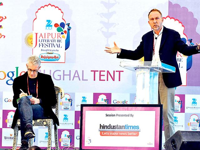 Berry-Flood-R-Tom-Holland-C-and-Peter-Frankopan-at-session-on-The-End-of-Antiquity-and-Rise-of-Monotheism-during-the-Literature-Festival-in-Jaipur-Photo-Mohd-Zakir-HT