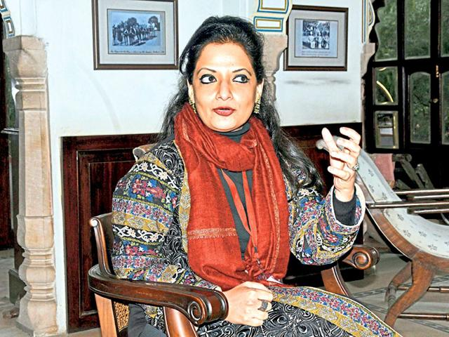 Author-and-journalist-Reem-abbasi-at-the-Jaipur-Literature-festival-on-Thursday-Himanshu-Vyas-HT